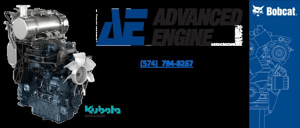 Bobcat Reman Engine - Kubota Remanufactured Engine to fit by Advanced Engine
